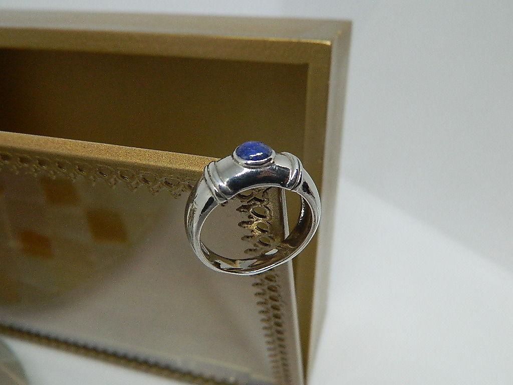 bague Lapis Lazuli Argent 925 rhodié