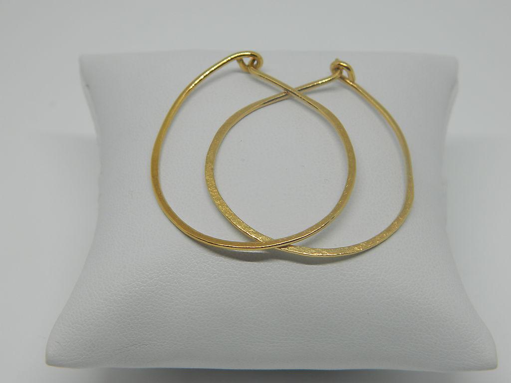 Boucles d'oreilles chloe vermeil féminine et minimaliste