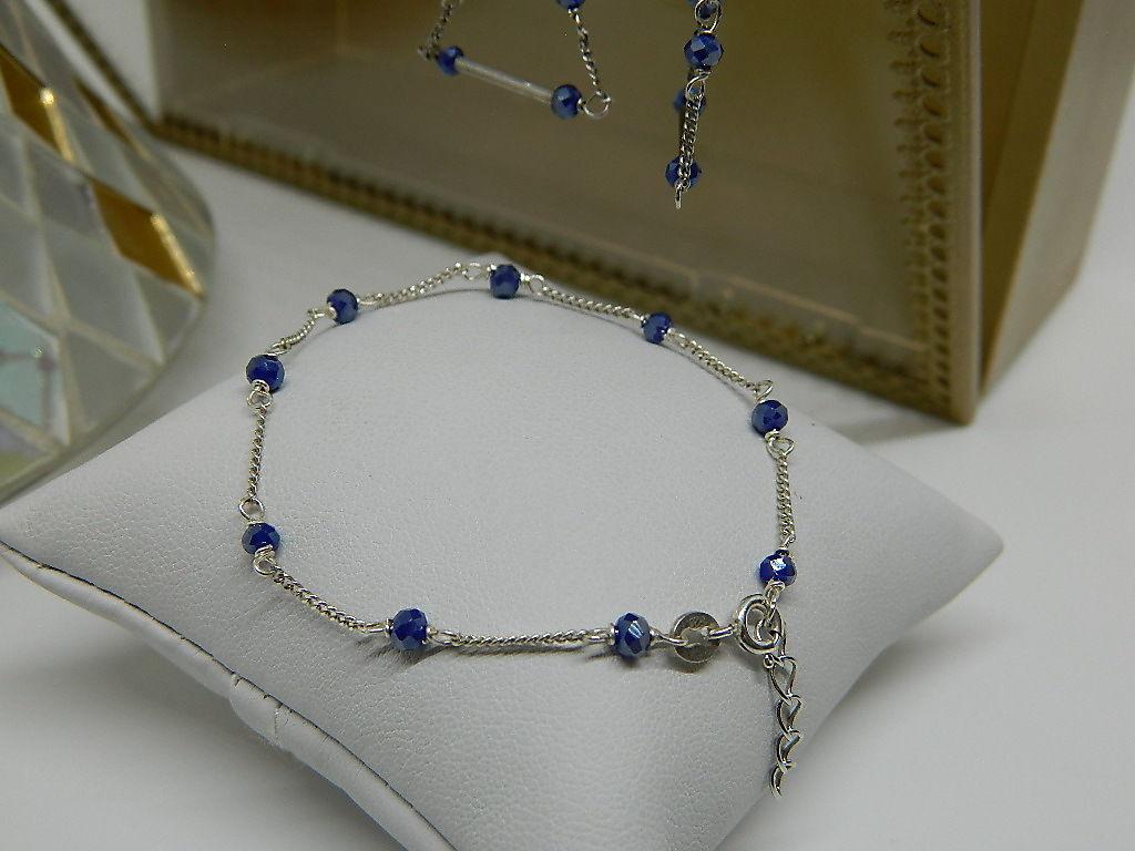 bracelet cristal maille gourmette argent 925 rhodie
