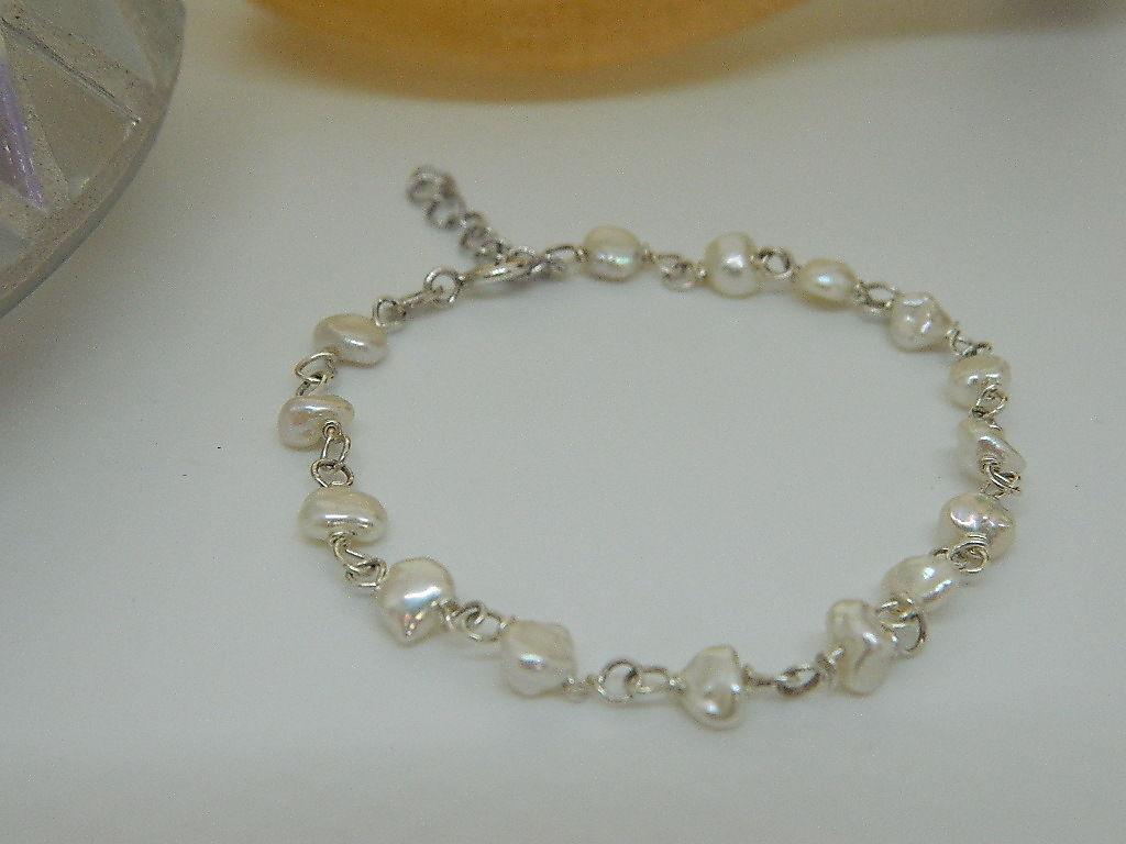 bracelet keshi nacre