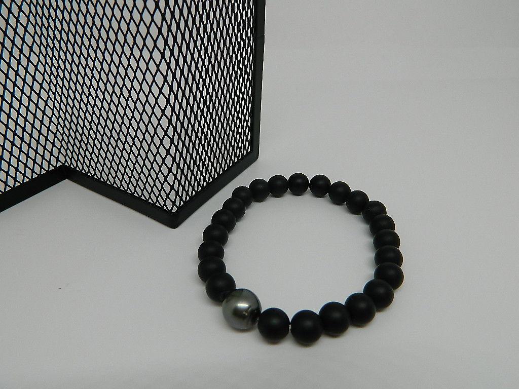 bracelet perle Tahiti Agate